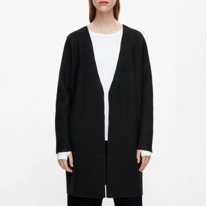 COS boiled wool sweater jacket